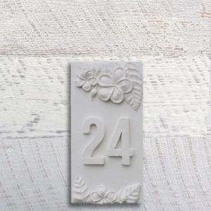 House Plaque - Frangipani vertical